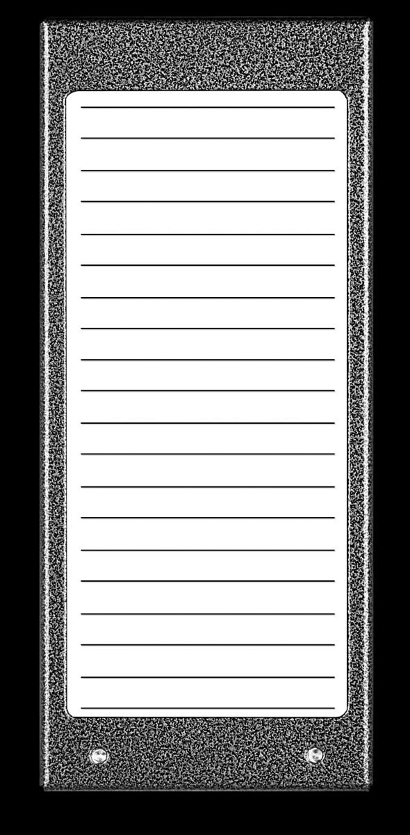 Podświetlany panel listy lokatorów 17N – stal