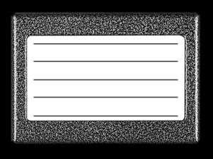 Podświetlany panel listy lokatorów 5N - graffit