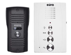 Domofon Eura ADP-11A3 INVITO, Biały głośnomówiący