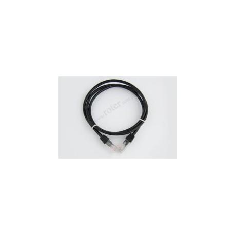 Patch cord UTP kat.5e, czarny, 0,5m