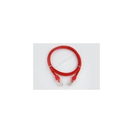 Patch cord UTP kat.5e, czerwony, 0,5m