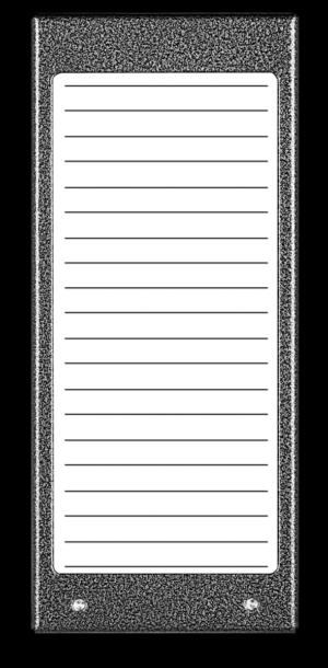Podświetlany panel listy lokatorów 17N - stal