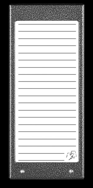 Podświetl. panel listy lok. z czytnikiem 17NACC-G