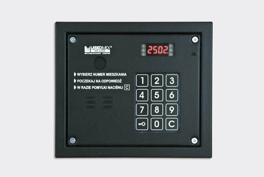 Panel audio z czytnikiem CP-2503R czarny